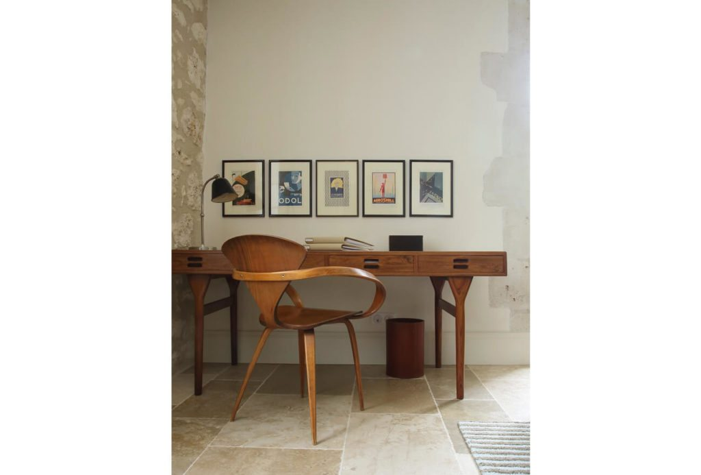 Retro Study Desk - Brassac, French Country House