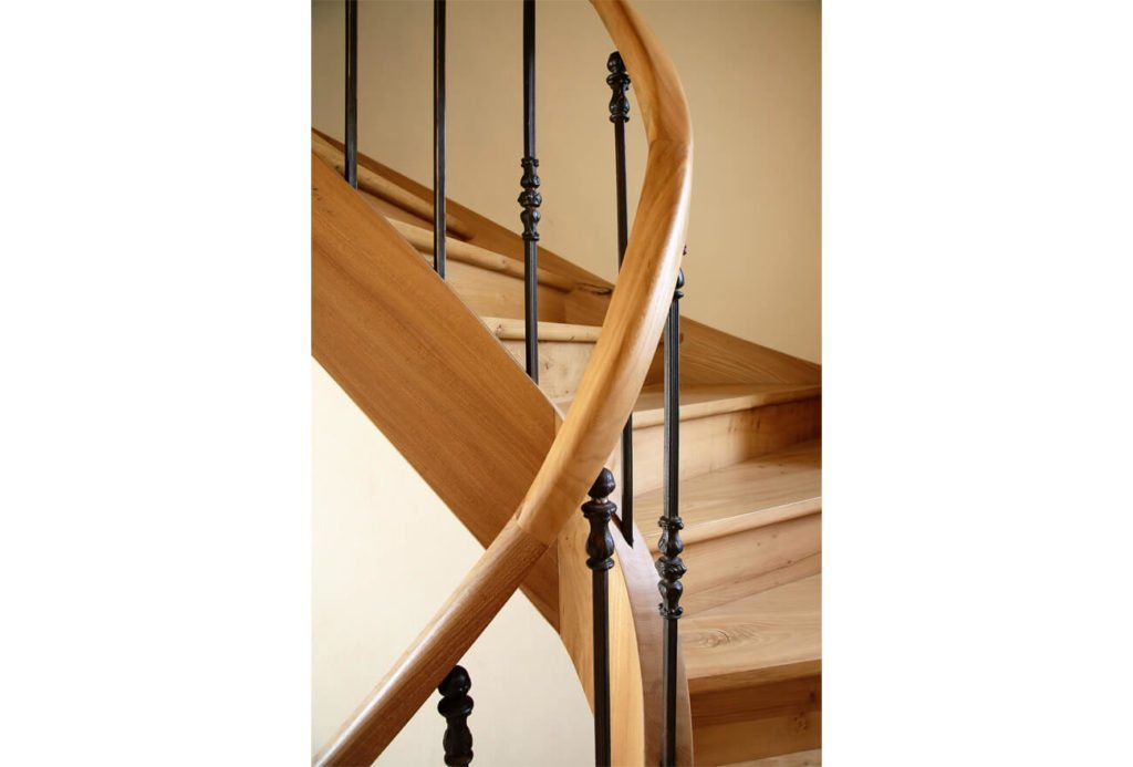 Wooden Staircase with Iron Baluster: Brassac, French Country House