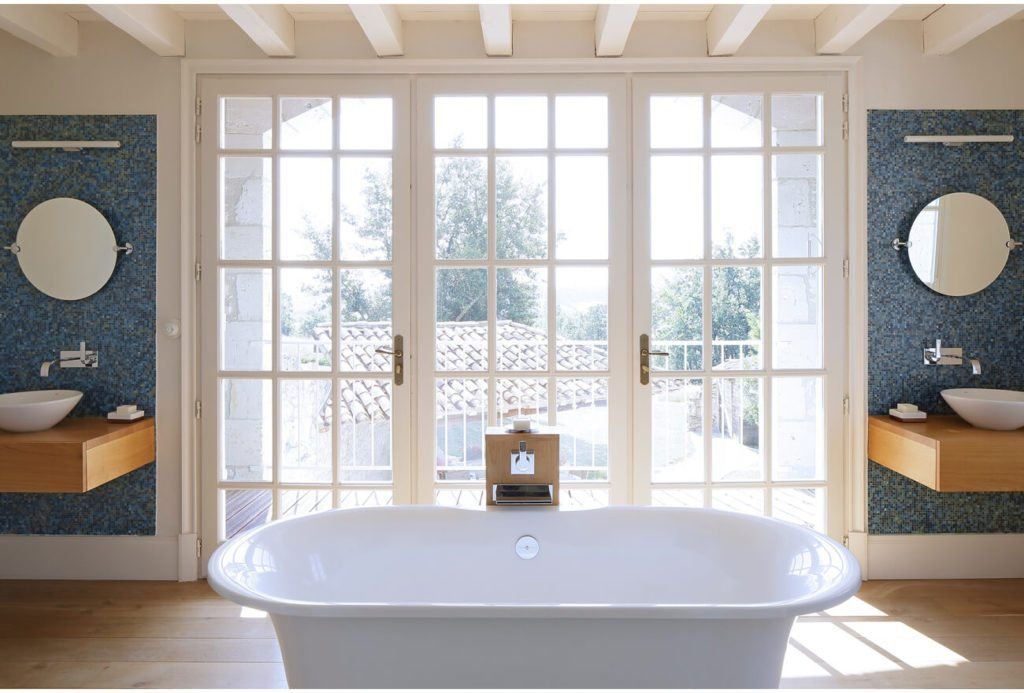 Freestanding Bathtub in the Bathroom: Brassac, French Country Property