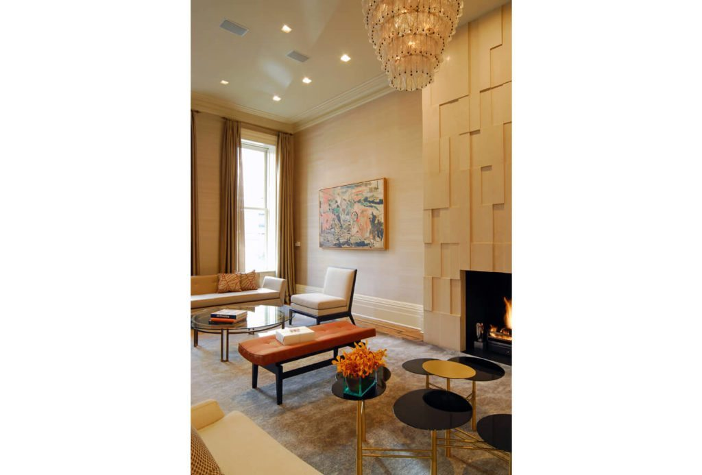 Reception View of New York City Brownstone Property